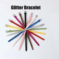 Wholesale DIY Glitter Gel Snake Strap Bracelet for Slide Letters
