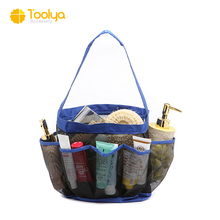 Aanpassen populaire mesh oxford doek 8 pocket douche caddy <span class=keywords><strong>Bad</strong></span> organizer bag