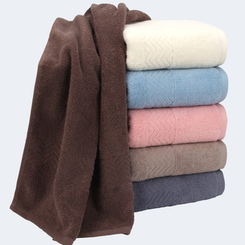 China manufacturer factory customized Plain Dyed Cotton Towel bath towel