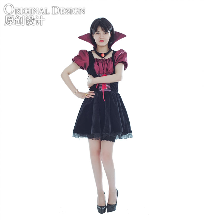 Hot sale halloween sexy long vampire bride costume dress vampire dress for woman
