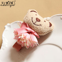 High Quality Plush Toys Baby Accessories Bear Hair Clip