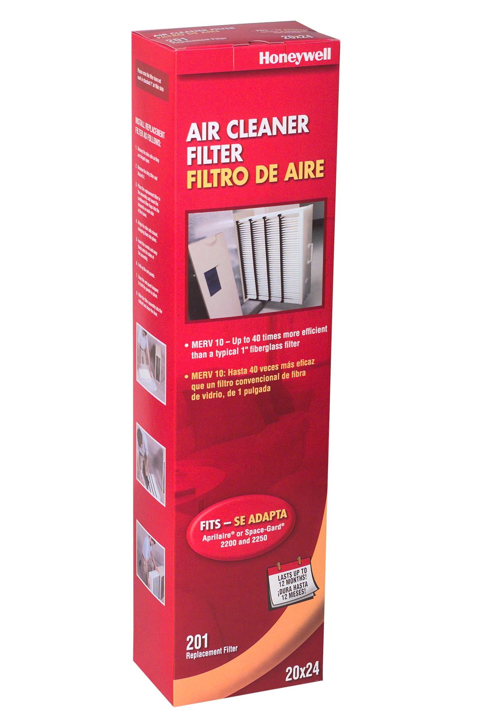 Honeywell CF2200A1005 4-Inch High-Efficiency Collapsible Air Cleaner Filter