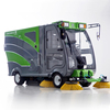 Comfortable cab battery road sweeper