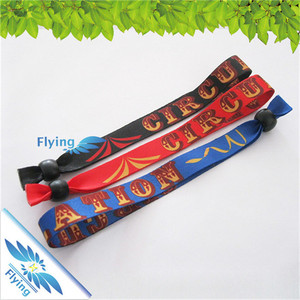 custom cloth festival fabric wristbands, print snap on bracelet