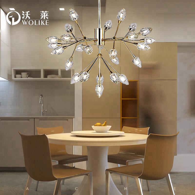 Modern Luxury Exquisite Glass Chandelier Chandelier Dining Room/ Bedroom/  Hotel Room Led Lighting Fixture - Buy Led Light Fixtures,Fluorescent ...