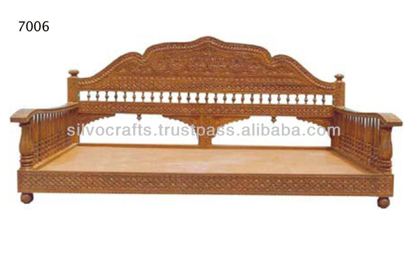 Royal Indian Rajasthani Jodhpur Hand Carved Teak Wooden Sofa Sets Throne Chairs Carved Furnitures By Classic Silvocraft Buy Carved Sofa