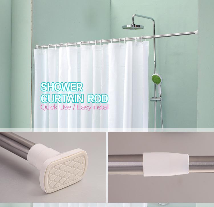 Manufacturer Of Extender Shower Curtain RodEasy Install Telescopic Rail