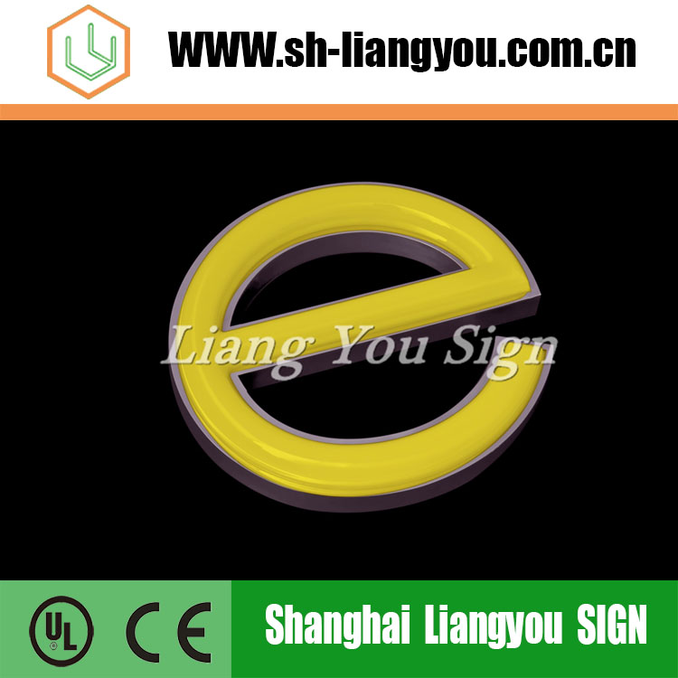 UL Certification Blister Stainless Steel Facing Luminous Word