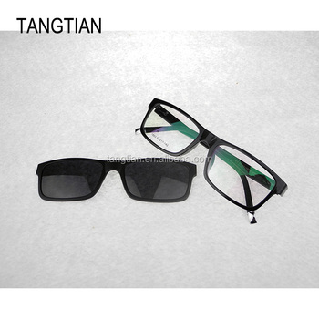 Cheap Eyeglass Changeable Frame With Magnet Clip On Plastic Optical ...