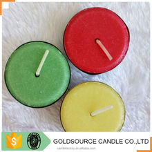 pure paraffin wax unscented colored tea light candles