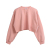 Wholesale Bulk Ladies Korean custom loose crop top sweatshirts