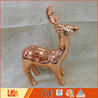 Popular style copper ceramic reindeer decoration christmas gift ideas 2016