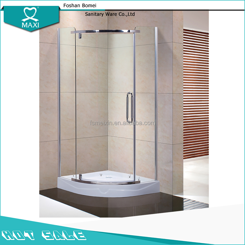 Wholesale Flat Open 8mm Thickness Frameless Bathroom Curved Glass