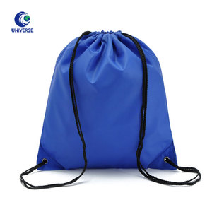Promotional Portable Nylon Polyester Gym Drawstring Backpack Shoe Dust Bag