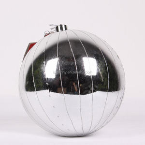 Shatterproof plastic big size outdoor christmas decorations ball