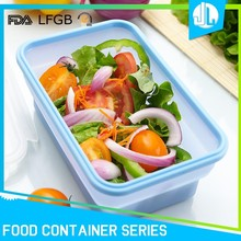 Custom silicone material airline food container
