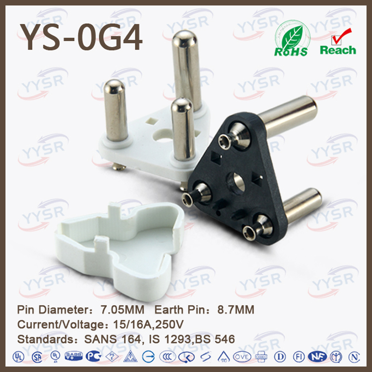 Large South Africa Plug Insert( Brass Pin Connector,Sabs Standard ...
