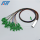 1270nm 1610nm 1x2 1x4 1x8 1x16 1x32 single mode APC steel tube fiber optical PLC splitter