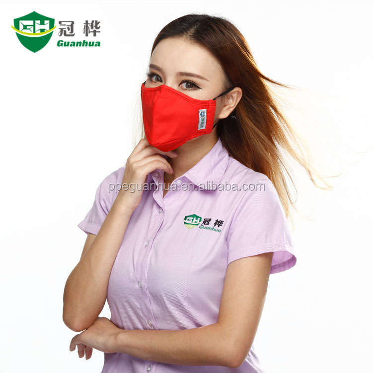 PM2.5 cotton mask mouth reusable cloth face mask, Air pollution-proof masks A-6200R-2