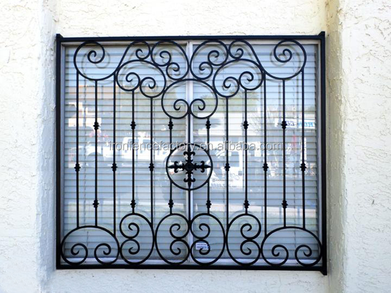 2016 Latest High Quality Decration Wrought Iron Window Grill ...