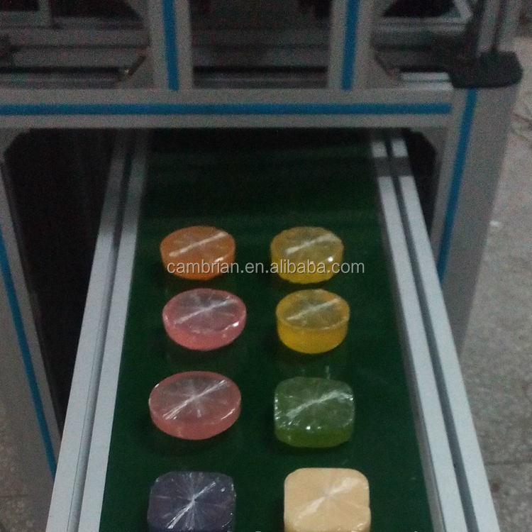 Industrial flexible transparent film bar soap wrapping machine