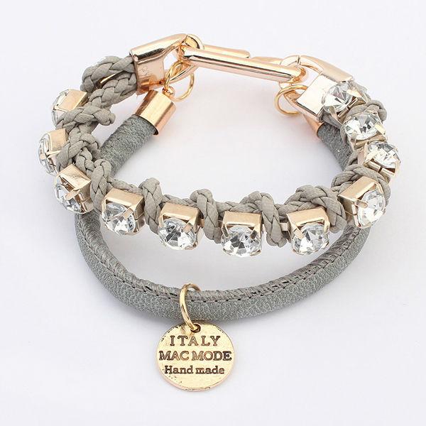 Black Leather Free Sample Fashion Bracelets Hot Jewelry Trends 2015