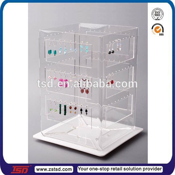 Tsd A909 Double Sided Jewelry Display Cases For Table Top Earring Case