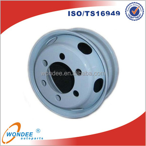 High Quality Factory Trailer Rim 19.5*6.75 Tubeless Steel Wheel