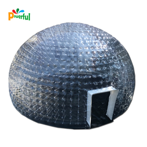 air tight inflatable giant transparent dome tent