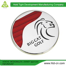 Wholesale In China Custom Magnetic Golf Ball Marker With Metal Hat Clip