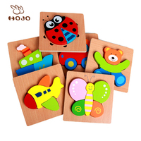 Cartoon animal educational toys wooden jigsaw puzzle for children