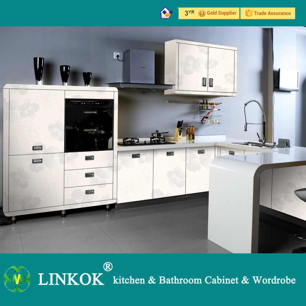 White modern acrylic kitchen cabinets with best price for Best value in kitchen cabinets
