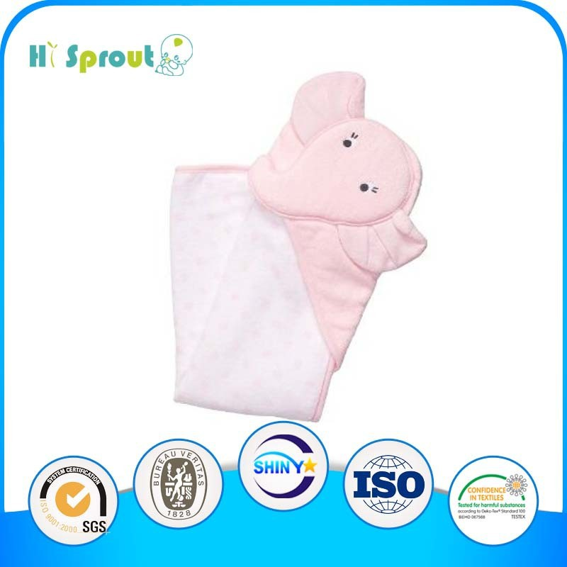 Cuttie Pink Long Nose Elephant Baby Towels