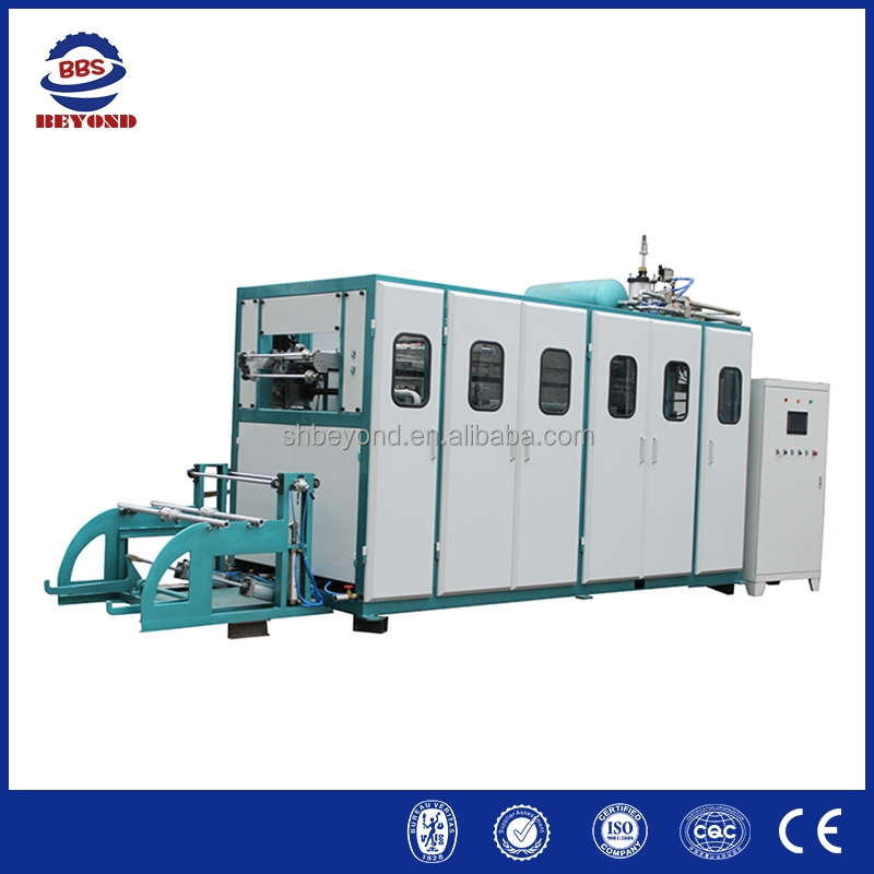Thermoplastic disposable water cup thermoforming production line