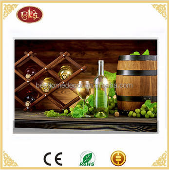 wine wall pictures light up led canvas painting