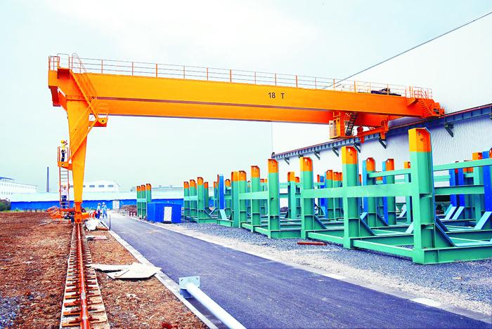 5T 40T double girder semi-gantry crane