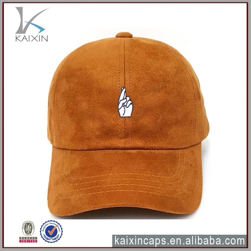 embroidered caps 3d unstructured suede baseball hats