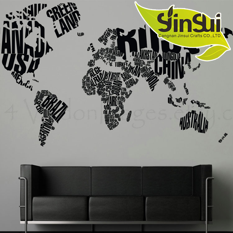 World map wall sticker wholesale wall stickers suppliers alibaba gumiabroncs Choice Image