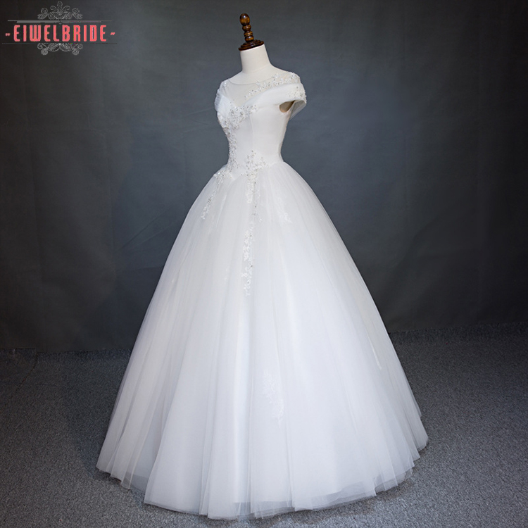Ball Gown Tulle/Net Fabric Real Wedding Dress