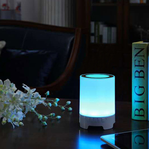 High quality 4 port usb table lamp led color changing smart music led night light table desk lamp