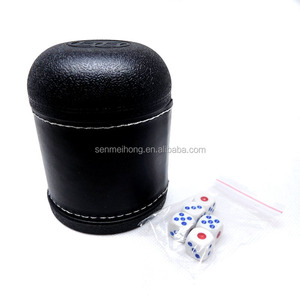 Mini Professional Black Poker Game Dice Cups with 5 dices