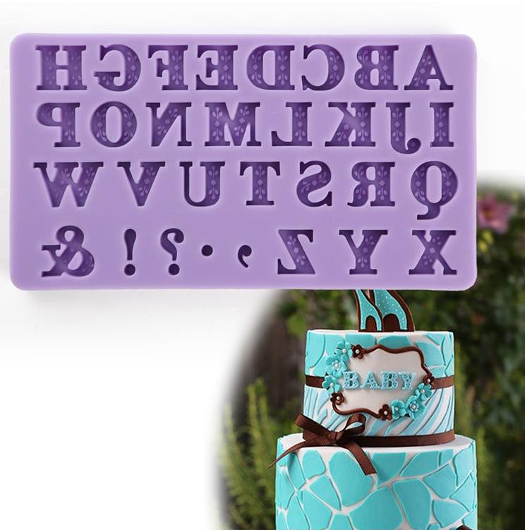 2019 New Alphabet Letter Silicone Cutter Molds Mini Size 3D