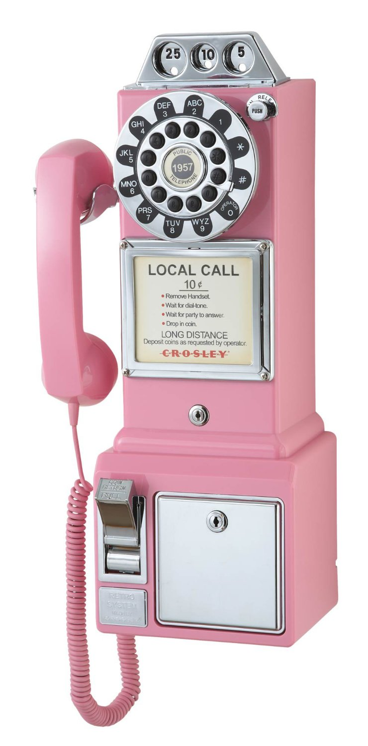 Buy Crosley CR56-PI 1950s Payphone with Push Button