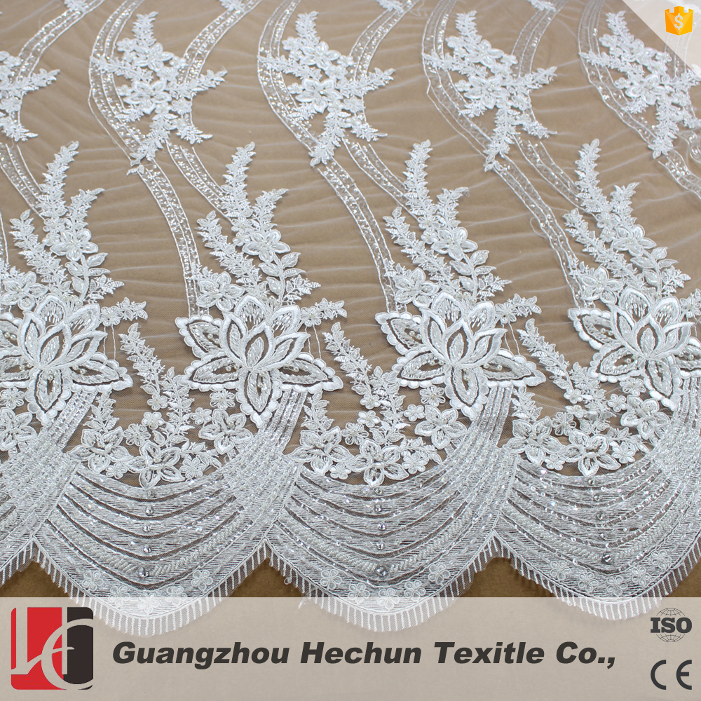 HC-0592 2016 Hechun Bridal dress making french Lace Fabric Wholesale for women dress