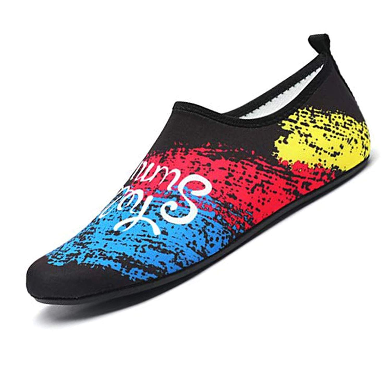 c0eec5f4ab969 Get Quotations · Resonda Men Women Water Shoes Barefoot Quick-Dry Aqua  Socks Beach Swim Surf Yoga Pool