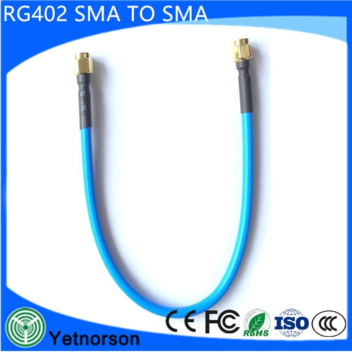 High Quality Coaxial MMCX SMA Cable SMA Male to SMA Male for Rg402 Cable Semi-Rigid Coacial Cable