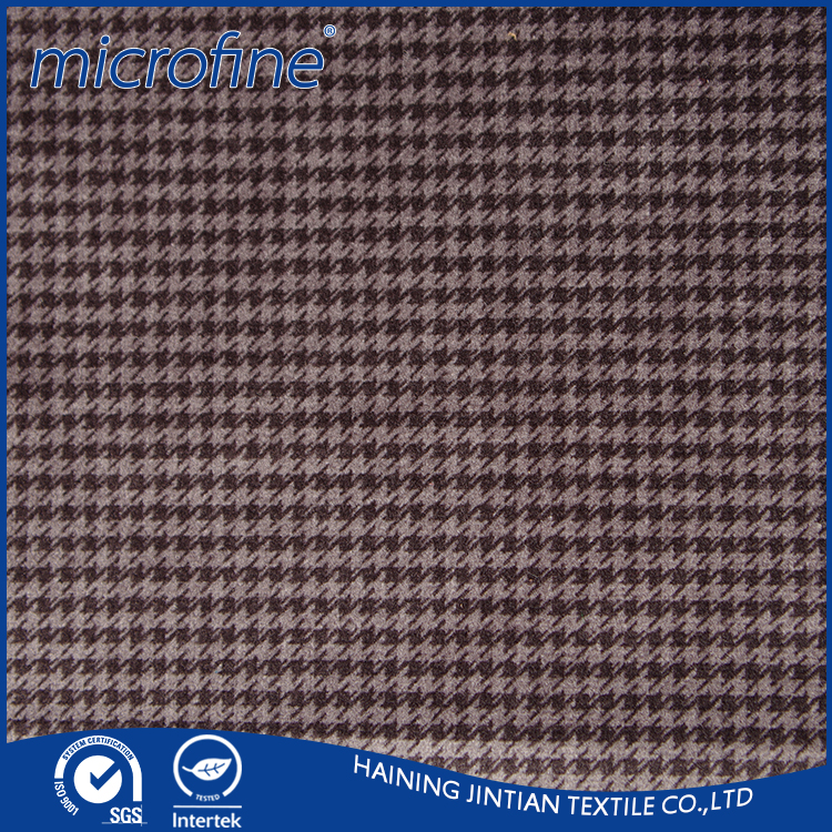 2016 the popular warp knitted printed tricot brushed cloth fabric