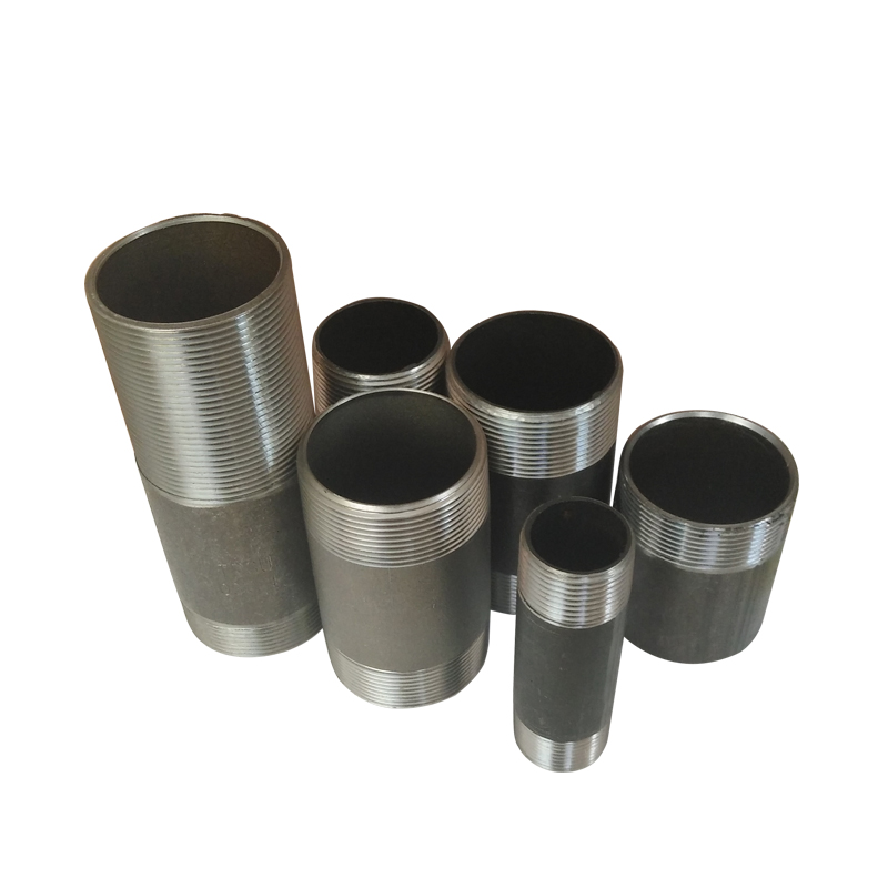 High Quality Black Metal Carbon Steel Pipe Nipple