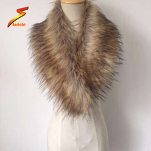 STABILE Factory Price Top Quality Natural Color faux Raccoon Fur Collar for jacket