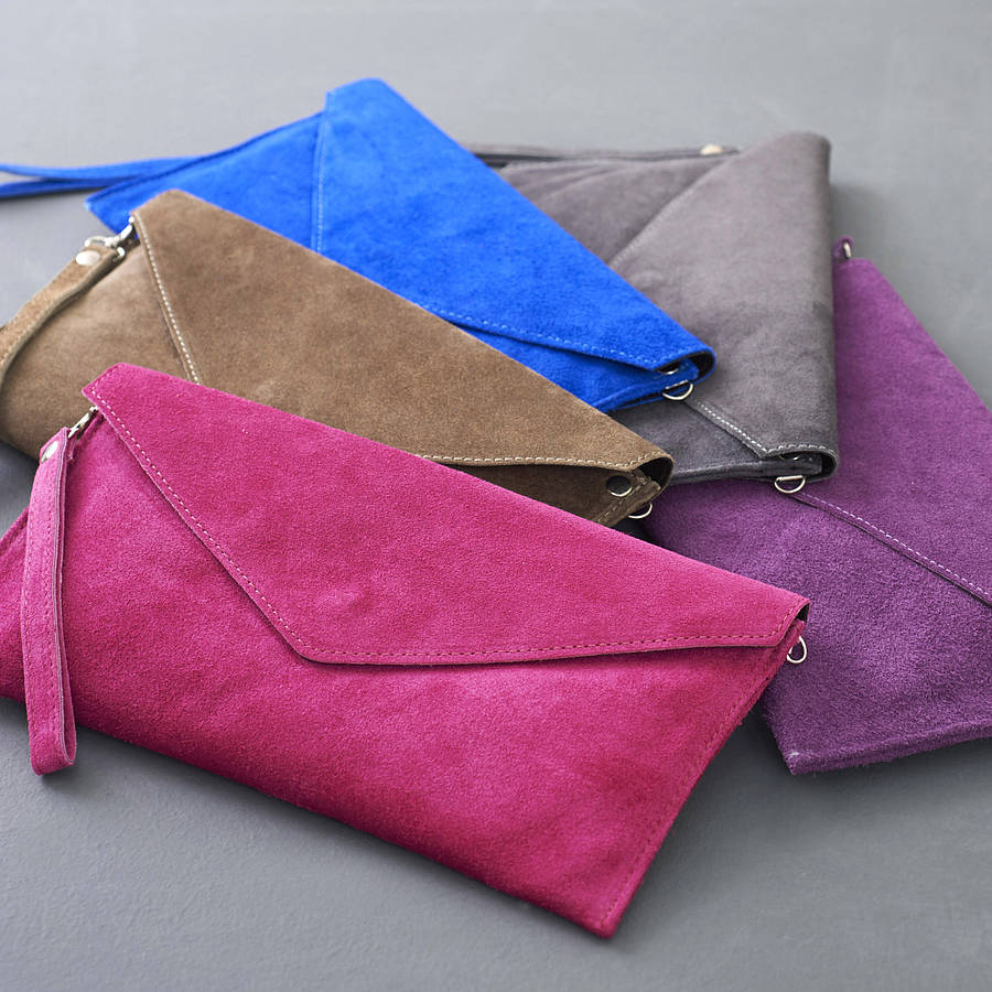 Lady Suede Envelope Clutch Bag Purse Product On Alibaba